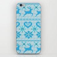 scandinavian iPhone & iPod Skins featuring Scandinavian Knitting by Vannina