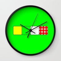 tour de france Wall Clocks featuring Tour de France Jerseys 2 Green by The Learning Curve Photography