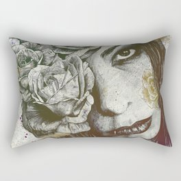 Of Suffering: Autumn (dark lady portrait with roses) Rectangular Pillow