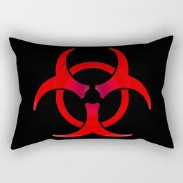 Biohazard - Red Rectangular Pillow