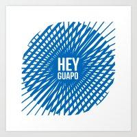 Hey Guapo – Blue Art Print