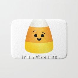 I Love Corny Puns! Bath Mat