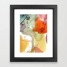 watercolour floral abstract Framed Art Print