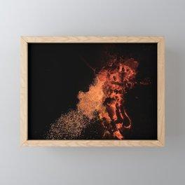 Flames Fire Heat Framed Mini Art Print