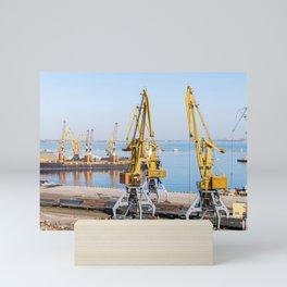 In the seaport Mini Art Print