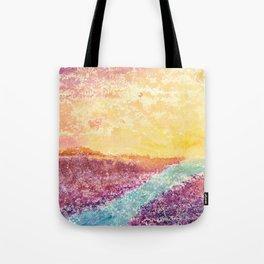 Magical Sunset Watercolor Illustration Tote Bag