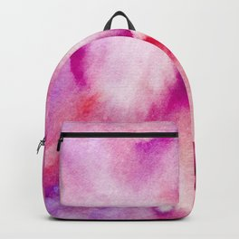 Watercolor texture - pink and purple Backpack