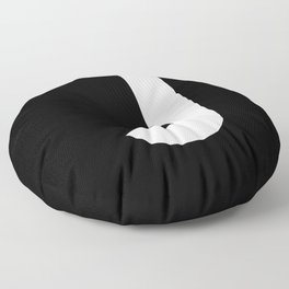 Letter J (White & Black) Floor Pillow