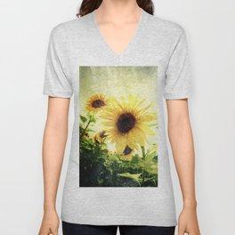 Sunflower Art 1 Unisex V-Neck