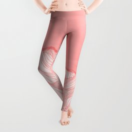 Lines in the mountains - pink Leggings