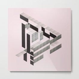 J'aime triangle Metal Print