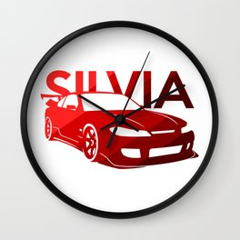 Nissan Silvia S15 - classic red - Wall Clock