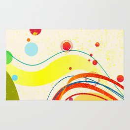Yellow Jazz Poster Rug