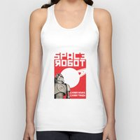 soviet Tank Tops featuring Retro Soviet minimalism spacerobot   by Cardula