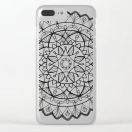 free-hand mandala Clear iPhone Case