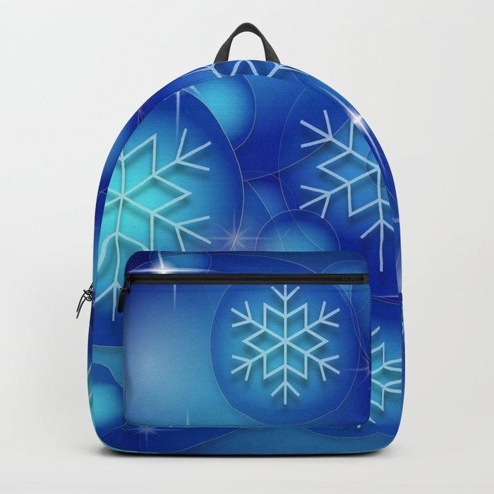 Blue background christmas Rucksack