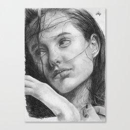 Angelina Jolie Traditional Portrait Print Canvas Print