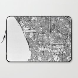 Los Angeles White Map Laptop Sleeve