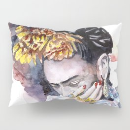 Frida Kahlo watercolor portrait Pillow Sham