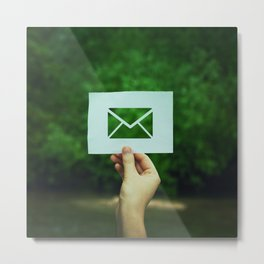 holding message icon Metal Print
