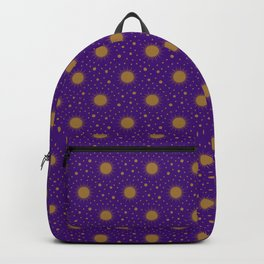 Astrological Purple Stars and Sun Backpack