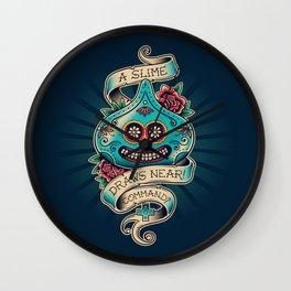 Slime de los Muertos Wall Clock