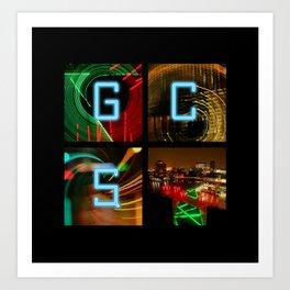 GCSQ#3, Grand Canal Square, Dublin, Ireland Art Print