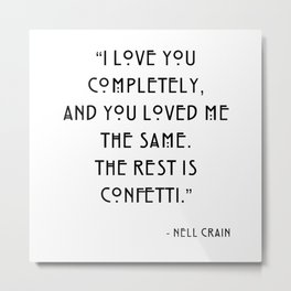 The Haunting of Hill House, Nell Crain, Quote Metal Print