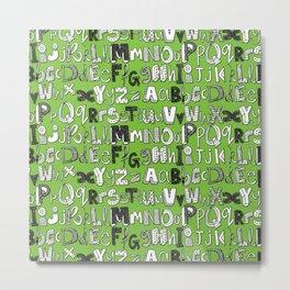 ABC green Metal Print