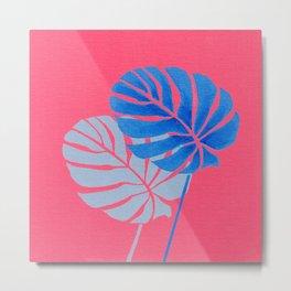 Palm Leaf Shadow Metal Print