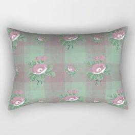 flower/pink/green/texture/deep colors Rectangular Pillow