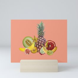 Fresh Fruits summer Selection - coral Mini Art Print