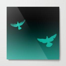 Blue Birds Metal Print
