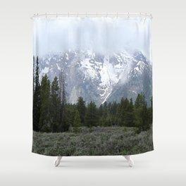 The Grand Teton Range Under Raincouds Shower Curtain