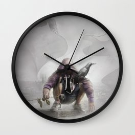 The Crow of Zagreb Wall Clock