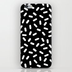 Bingo - black and white sprinkle retro modern pattern print monochromatic trendy hipster 80s style iPhone Skin