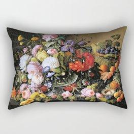 Vintage Varnish- Flowers&Fruit Rectangular Pillow