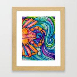 King Crab Framed Art Print
