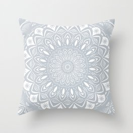 Cool Gray Mandala Simplistic Bold Minimal Minimalistic Throw Pillow