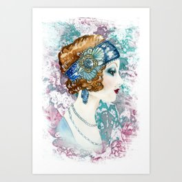 Roaring 1920's Beauty  Art Print