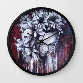Flower Of Beauty Wall Clock