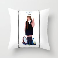 nan lawson Throw Pillows featuring nan by quentinschall