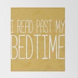 I Read Past My Bedtime (Mustard) Throw Blanket