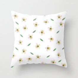 Anemones pattern with leaves Throw Pillow