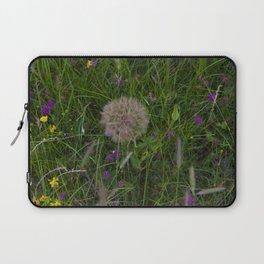 Field of flowers and Dandelions Laptop Sleeve