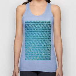 Mermaid Waves and Sea Foam, Sun Light over the Ocean Unisex Tank Top