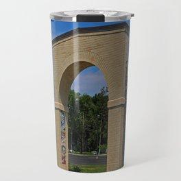 Lourdes University- Lourdes Entrance in the Spring II Travel Mug