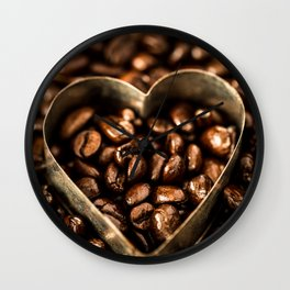 I Heart Coffee Wall Clock