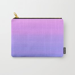 Pastel Pink Blue Stripes | Abstract gradient ombre pattern Carry-All Pouch