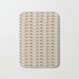 Steve Buscemi's Eyes Tiled Pattern Comic Bath Mat